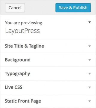 WordPress LayoutPress Customize